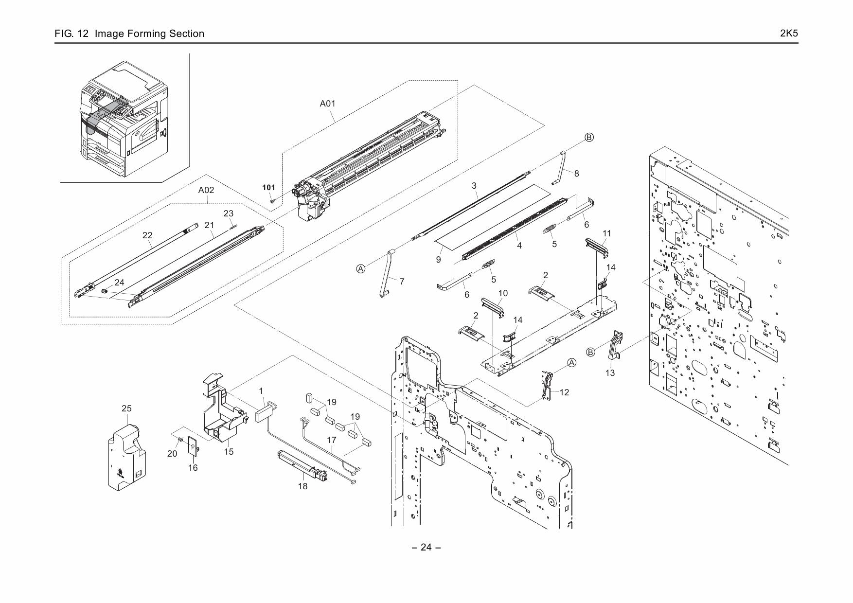 KYOCERA LaserPrinter Copystar-CS-300i Parts and Service Manual